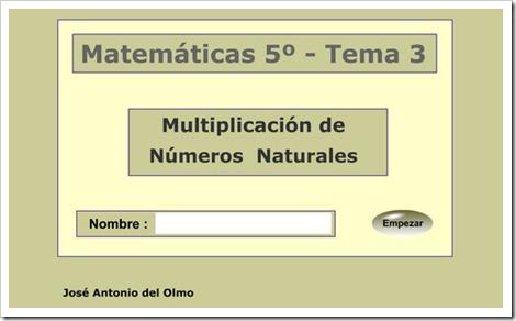 Multiplicación. Evaluación