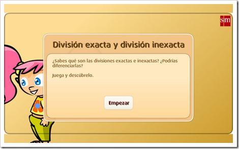 División exacta e inexacta