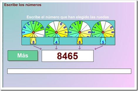 Escribe los números