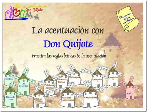 La acentuación con Don Quijote