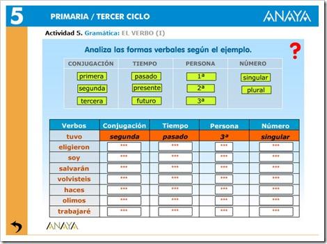 Analiza verbos