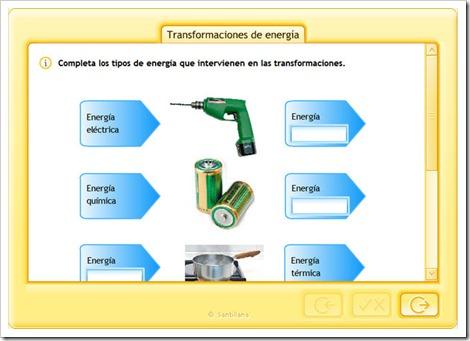 Transformaciones de energía