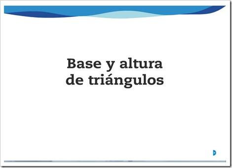 Base y altura de los triángulos